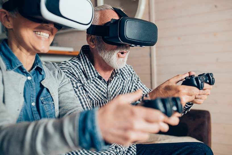 VR-Brille Gaming durch Highspeed-Internet