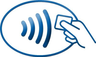 NFC-Symbol für kontaktloses Bezahlen