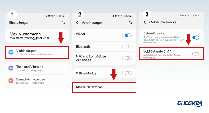 VoLTE - So stellen Sie VoLTE beim Ihrem Android-Handy ein