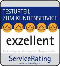 Siegel exzellent von ServiceRating