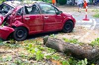 Die Zahl der Unwetterschäden an Fahrzeugen war 2011 sehr hoch.