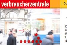 Homepage der Verbraucherzentrale der Bundesländer