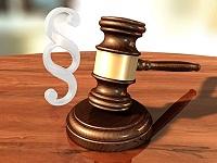 Richterhammer und Paragrafenzeichen