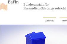 Homepage der BaFin