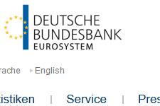 Homepage der Deutschen Bundesbank