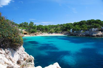 Strand-Bucht auf Mallorca