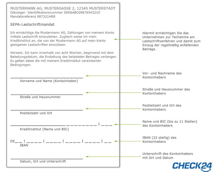 So Funktioniert Die Sepa Lastschrift Check24