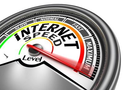 Tachomoter für Internet-Geschwindigkeit auf maximum.