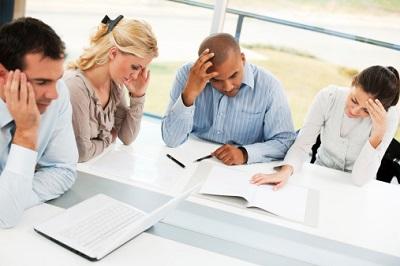 Angestellte-Stress