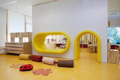 Leerer Kindergartenraum