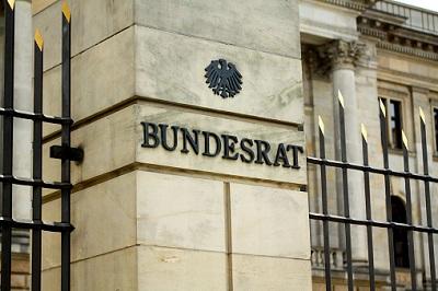 Aufschrift auf Bundesrat-Gebäude