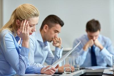 Angestellte im Stress