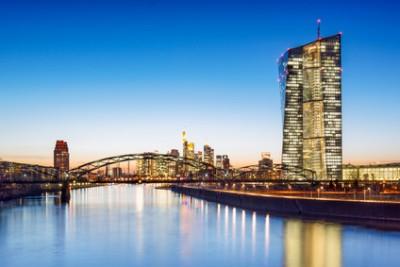 Das Gebäude der Europäischen Zentralbank in Frankfurt