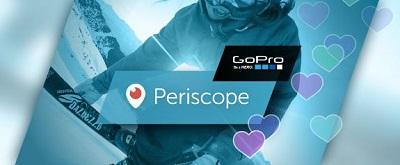 action cams gopro videos direkt mit periscope app streamen. Black Bedroom Furniture Sets. Home Design Ideas