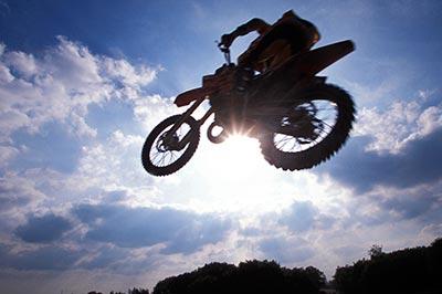 Die Motorradmessen bieten auch Action.
