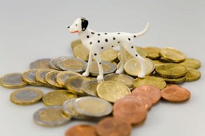 Hundefigur auf Münzen