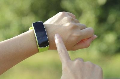 Grünes Fitness-Armband