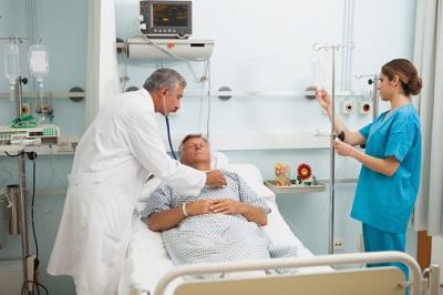 Krankenhausvisite Arzt Patient