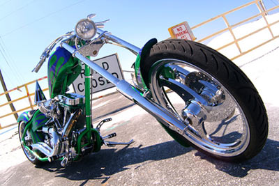 Lässig und ausgefallen soll das Motorrad sein.