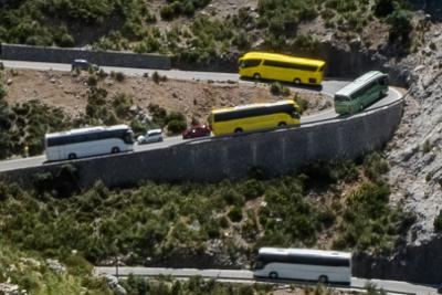 Mallorca Busse auf der Straße