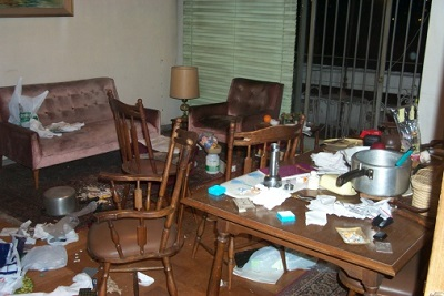 Müll in einer Wohnung