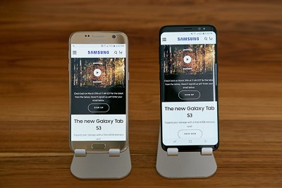 Samsung Galaxy S8 S7 Comparison