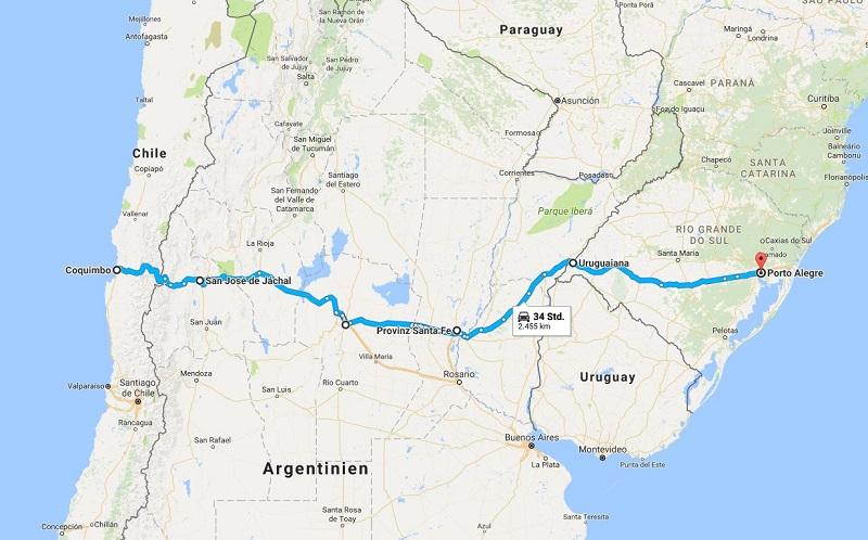 Südamerika Anden-Tunnel Chile Argentinien