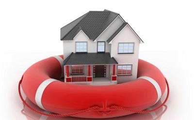 Haus im Rettungsreifen