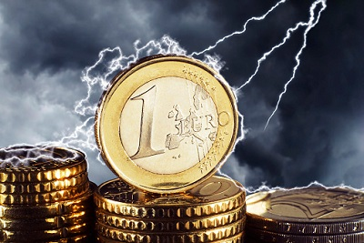 Blitz trifft Euromünzen