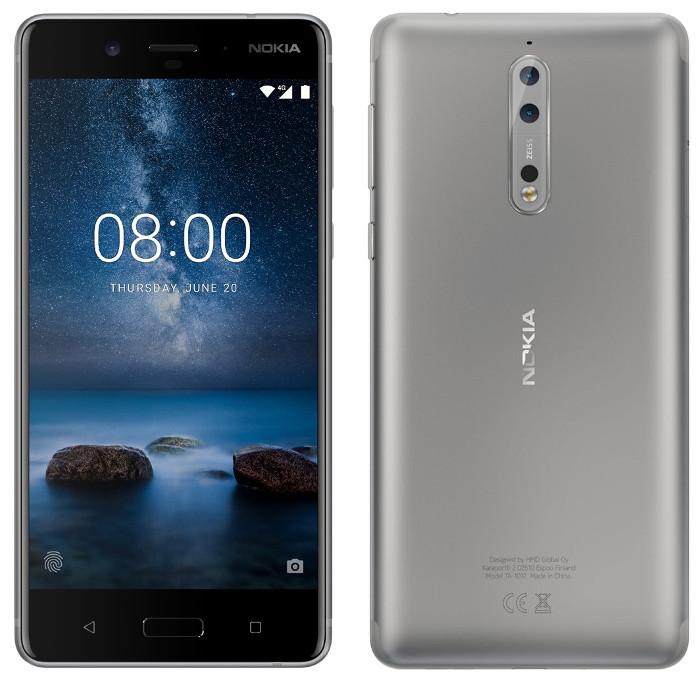 Nokia 8 in der Farbe Silber