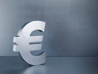 Eurozeichen auf grauem Hintergrund