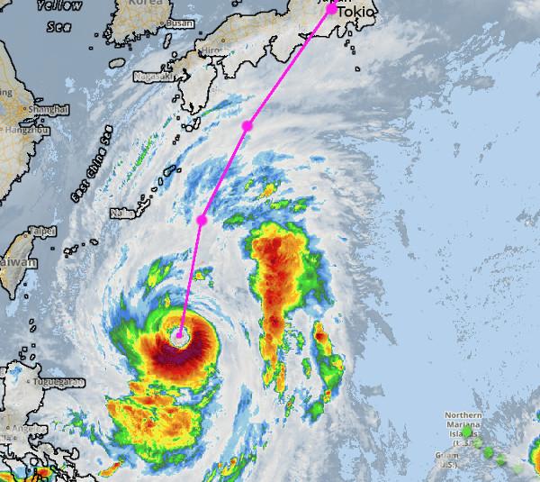 Heftiger Taifun nähert sich Japan - Swiss streicht Flüge