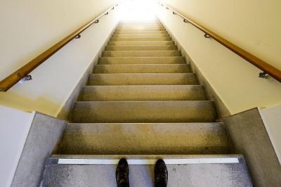 Treppe und Füße