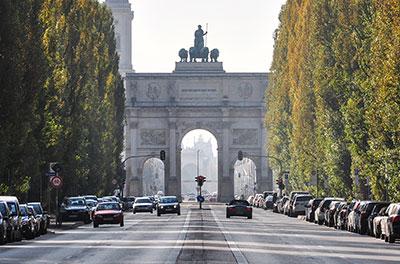 Verkehrssituation in München