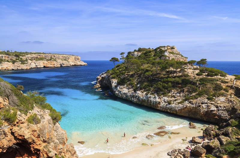 Mallorca: Caló des Moro Bucht