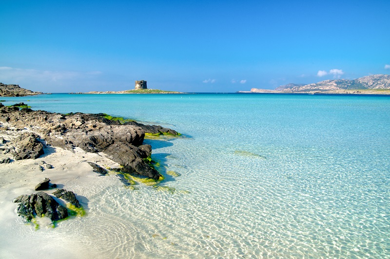 Italien: Sardinien La Pelosa Stintino Strand