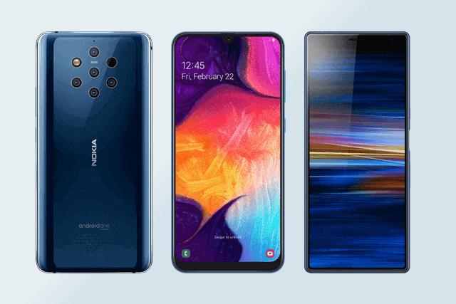 Nokia 9 PureView, Samsung Galaxy A50 und Sony Xperia 10 im Vergleich
