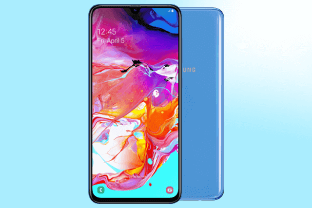 Samsung Galaxy A70 in Blau