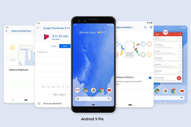 Smartphone mit Android 9.0 Pie