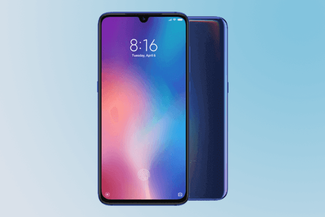 Xiaomi Mi 9 Smartphone in blau