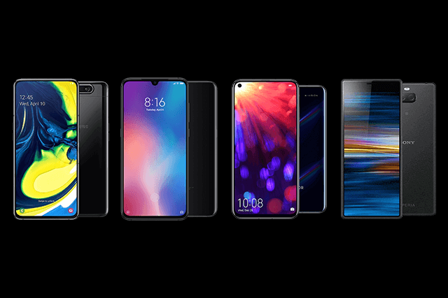 Samsung Galaxy A80, Xiaomi Mi 9, Honor View 20 und Sony Xperia 10