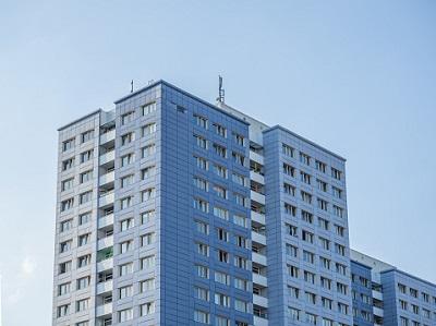 Hochhäuser in Nahaufnahme