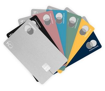 C24 Bank Mastercard Kreditkarten in verschiedenen Farben