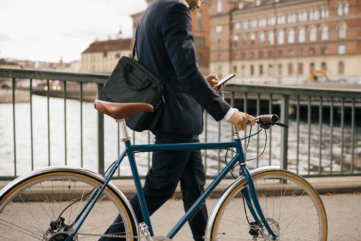 Fahrrad Geschäftsmann