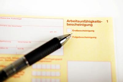 Arbeitsunfähigkeitsbescheinigung (