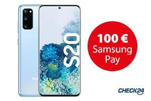 Samsung Galaxy S20 - jetzt 100 € Samsung Pay Guthaben sichern