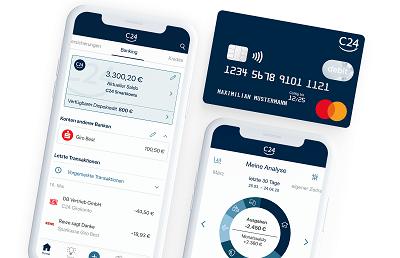 C24 Bank App und Girokonto mit Ausgabenanalyse und Mastercard