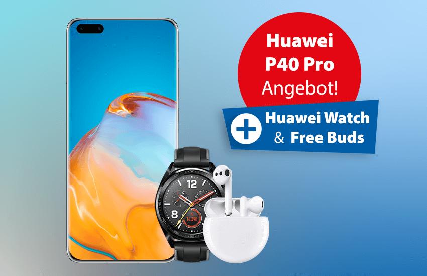Huawei P40 Pro Angebot mit Freewatch und Buds