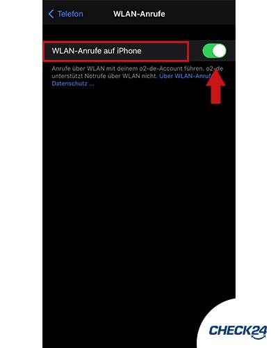 Wifi Calling auf einem iPhone aktivieren Schritt 3