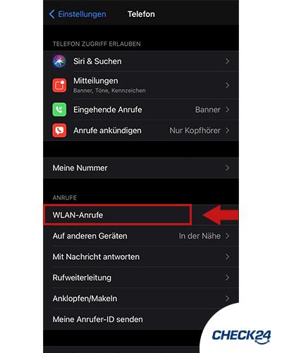 Wifi Calling auf einem iPhone aktivieren Schritt 2